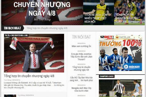 Làm website tin tức: tonibet.com