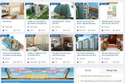 Thiết kế website bất động sản – nhà đất Thanh Hóa
