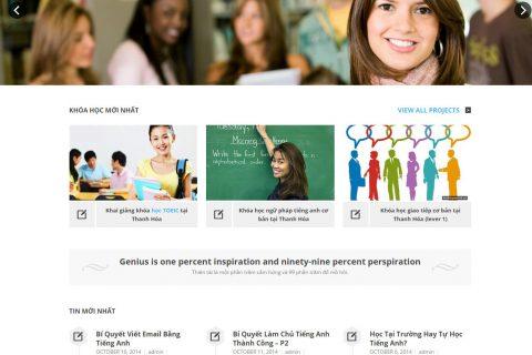 Thiết kế website tiếng anh tại Thanh Hóa