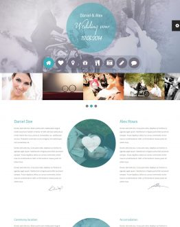 Wedding Vow - Wedding theme WordPress, mẫu website đám cưới