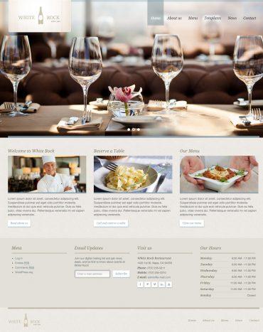WhiteRock - Theme website về ẩm thực WordPress, website ẩm thực
