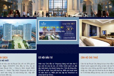 Thiết kế web bất động sản: sunhousing.vn