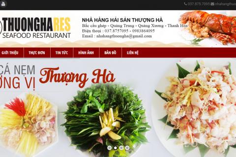Thiết kế website nhà hàng: nhahangthuongha.com.vn