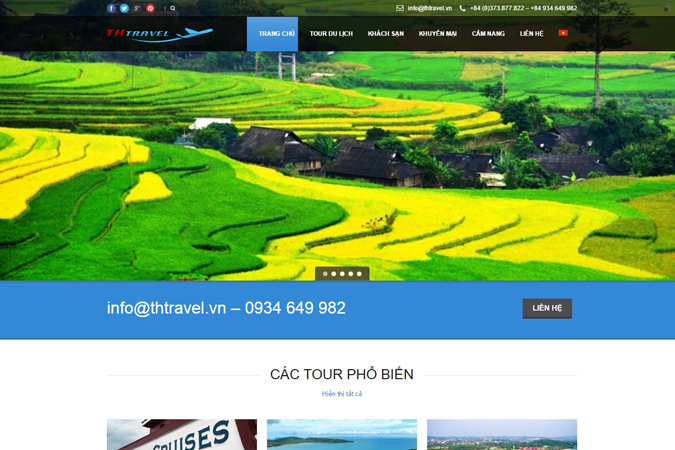Website du lịch Thanh Hóa: Thtravel.vn