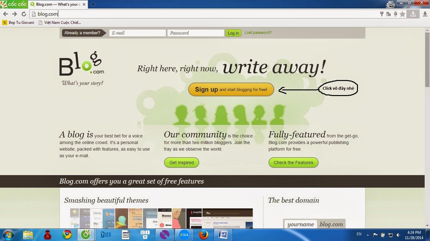 Hướng dẫn xây dựng Blog.com cho Seo
