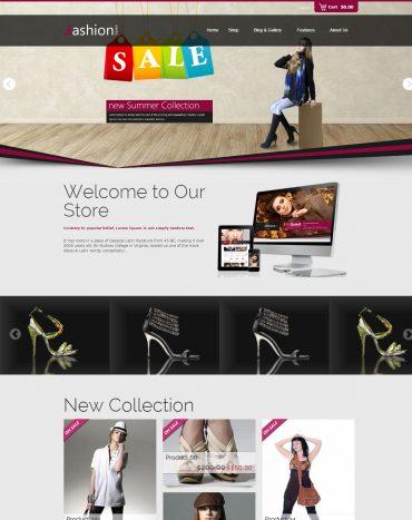 Shop thời trang theme WordPress