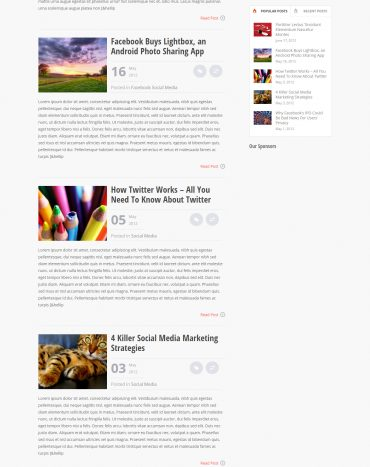 Tạp chí online, blog