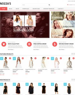 Shop thời trang WordPress theme