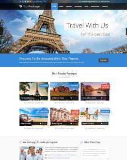 Theme thiết kế web du lịch WordPress, Website du lịch