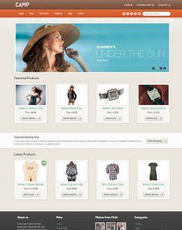 camp, website bán hàng, theme bán hàng