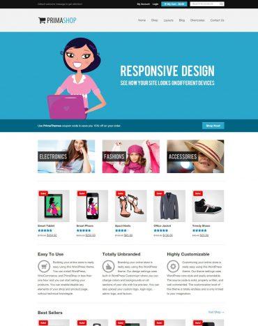 primashop, shop thời trang, website bán hàng, theme bán hang wordpress