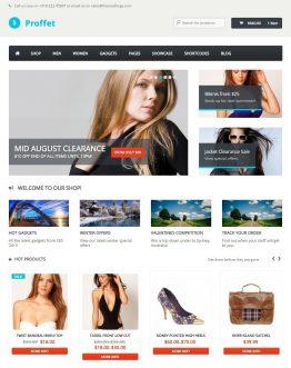proffet, shop thời trang, theme bán hàng wordpress