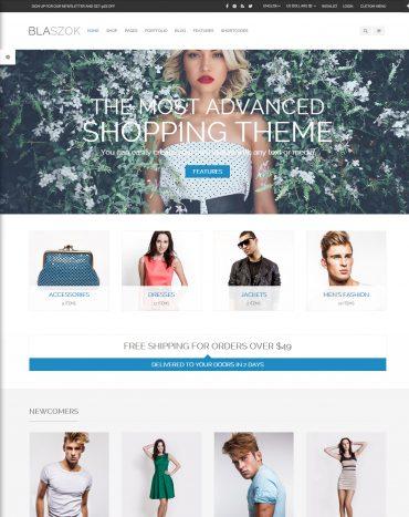 Blaszok - theme bán hàng WordPress, mẫu website bán hàng