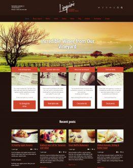 Linguini - Theme website về ẩm thực WordPress, website ẩm thực