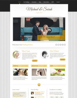 Marriage - Wedding theme WordPress, mẫu website đám cưới