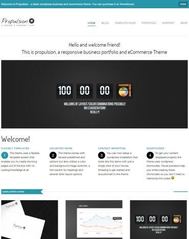 Propulsion - Theme bán hàng WordPress, website bán hàng