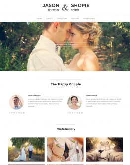 Qaween - Wedding theme WordPress, mẫu website đám cưới