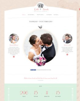 TheWeddingDay - Wedding theme WordPress, mẫu website đám cưới