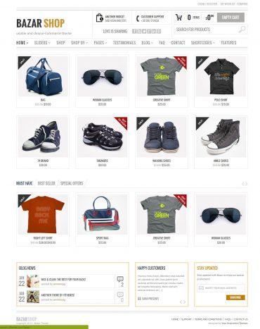 Bazar - Theme bán hàng WordPress, website bán hàng
