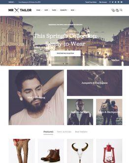 Mr. Tailor - Theme bán hàng WordPress, website bán hàng