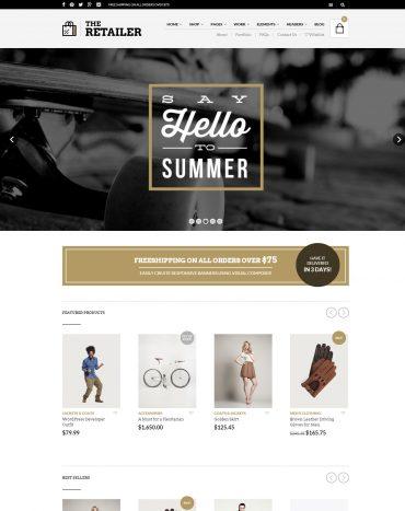 Retailer - Theme bán hàng WordPress, website bán hàng