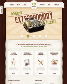 Retro - Theme bán hàng WordPress, website bán hàng trực tuyến
