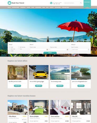 Dịch vụ thiết kế web khách sạn uy tín, chuyên nghiệp, trọn gói giá rẻ với mẫu Book Your Travel theme