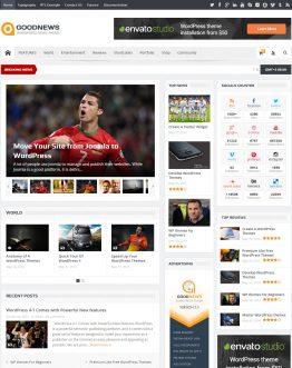 Thiết kế web tin tức uy tín, chuyên nghiệp với mẫu GoodNew Theme