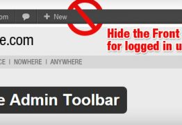 Tắt thanh Admin bar