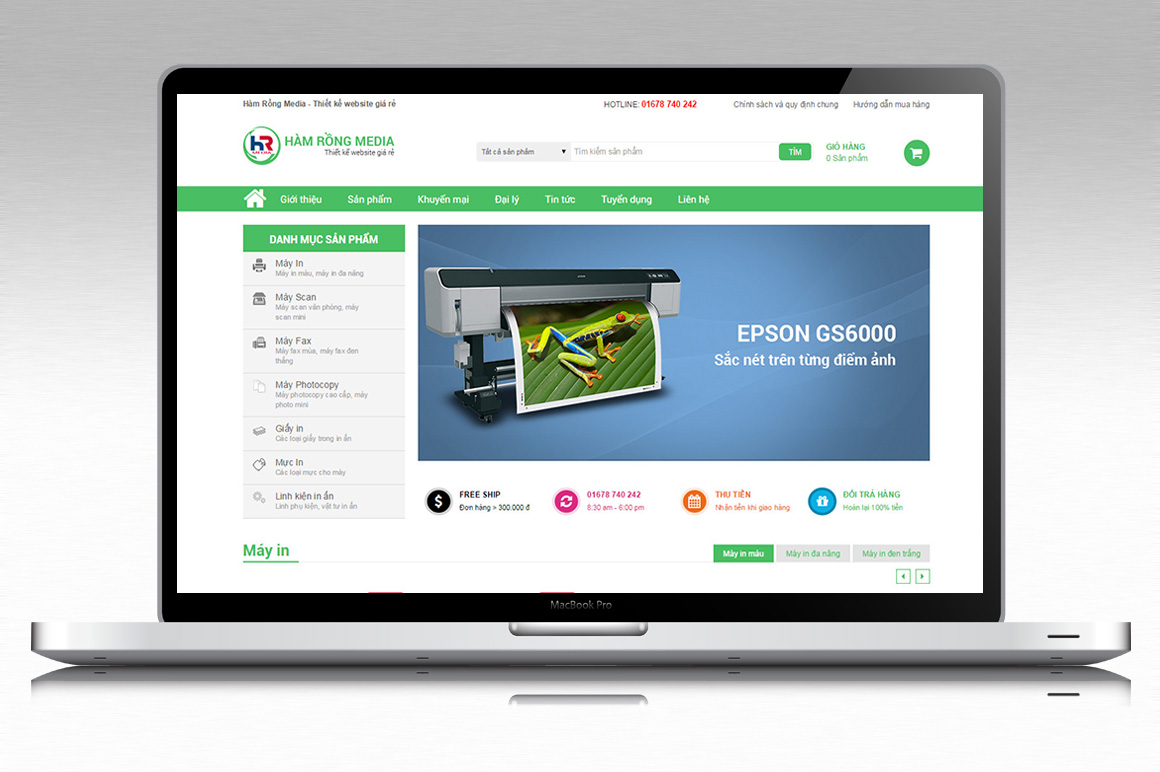 Thiết kế website máy in, sửa máy in