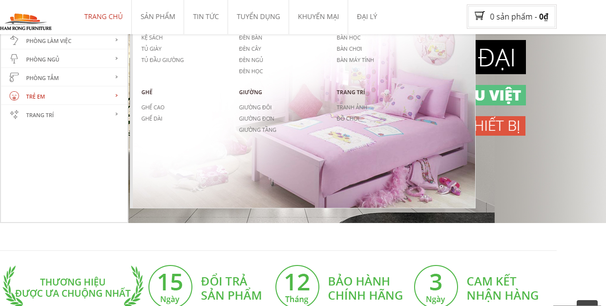 Đơn vị thiết kế website chuyên nghiệp cho ngành nội thất