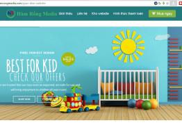mẫu website bán hàng trẻ em tại Hàm Rồng Media