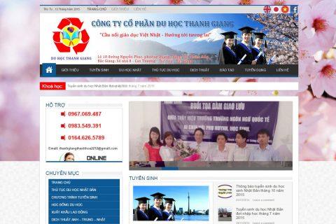 Thiết kế website du học tại thanh Hóa