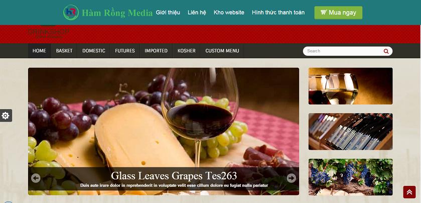 Thiết kế website giá rẻ kinh doanh rượu