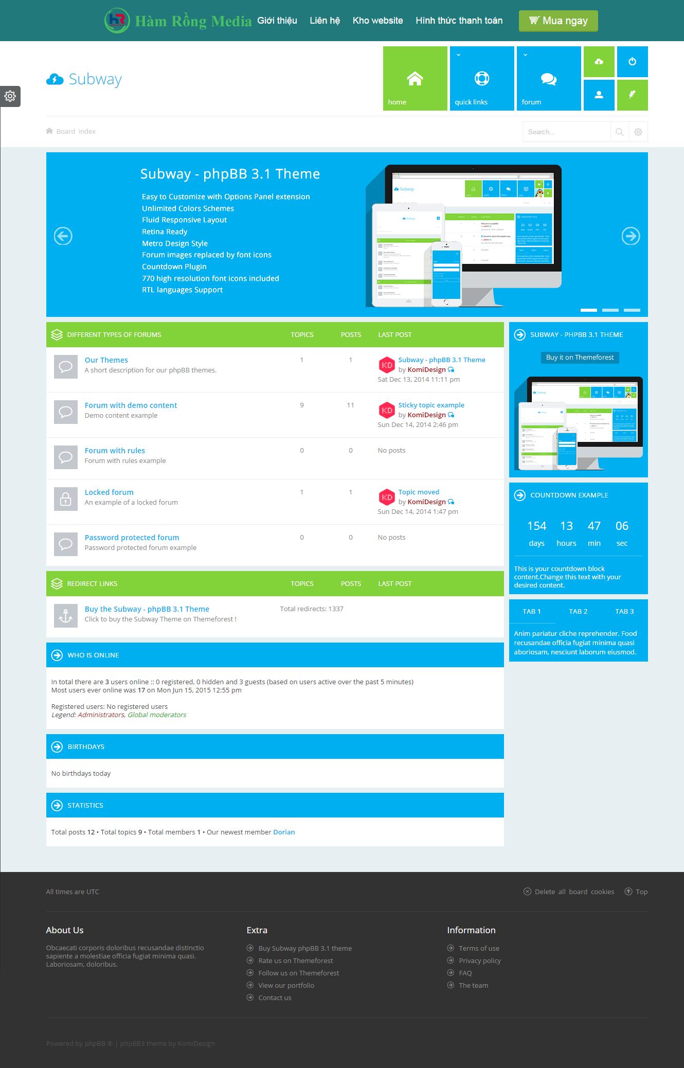 Thiết kế website giá rẻ cho diễn đàn online