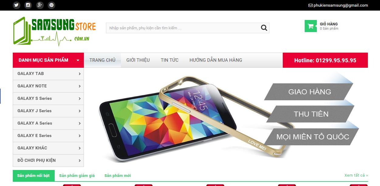 Thiết kế website bán phụ kiện điện thoại: samsungstore.com.vn
