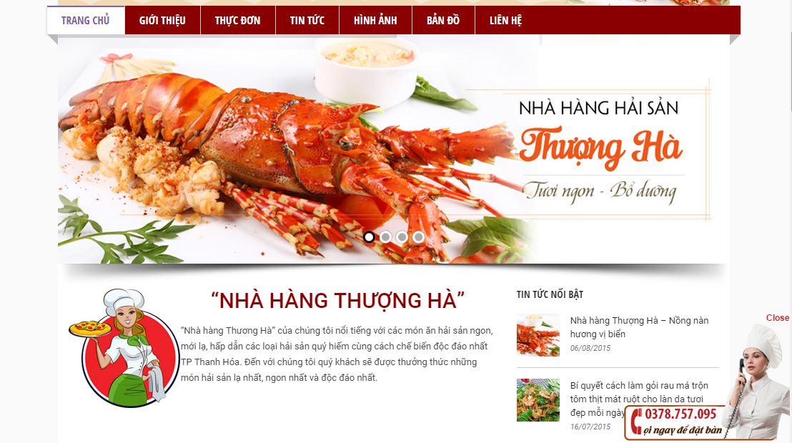 Dịch vụ thiết kế website uy tín cho nhà hàng hút khách