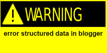 Khắc phục lỗi cấu trúc dữ liệu trong Blogger
